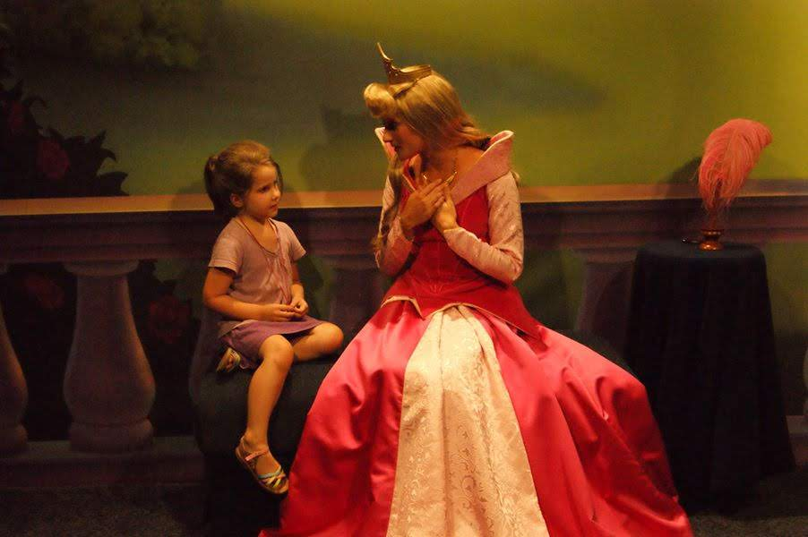 Character meet and greet with Aurora